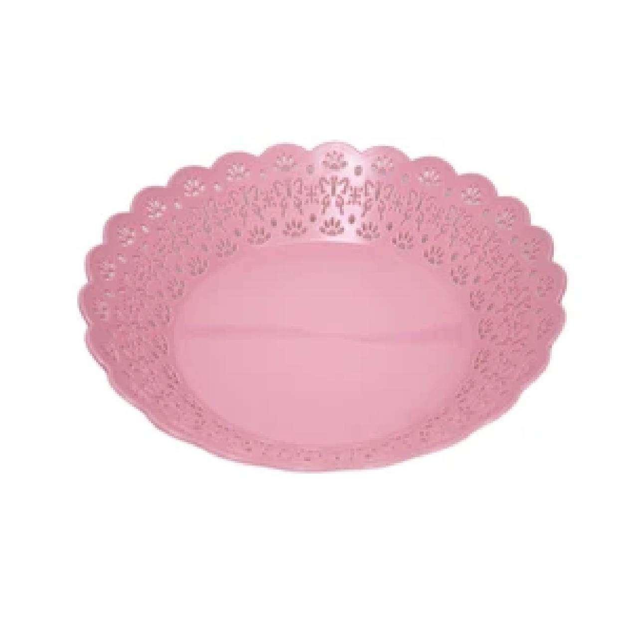 Beautiful Flower Cut Plastic Serving Bowls 3 Colours Quantity 1 Serving Bowl 25c