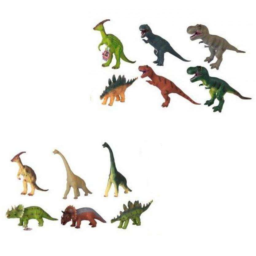 12 Assorted Realistic Dinosaurs Childrens 52cm Packet 1374184 (Parcel Rate)