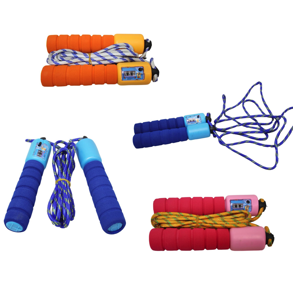 Childrens Kids Skipping Rope With Counter Jump Fitness Exercise Soft Handle 0378