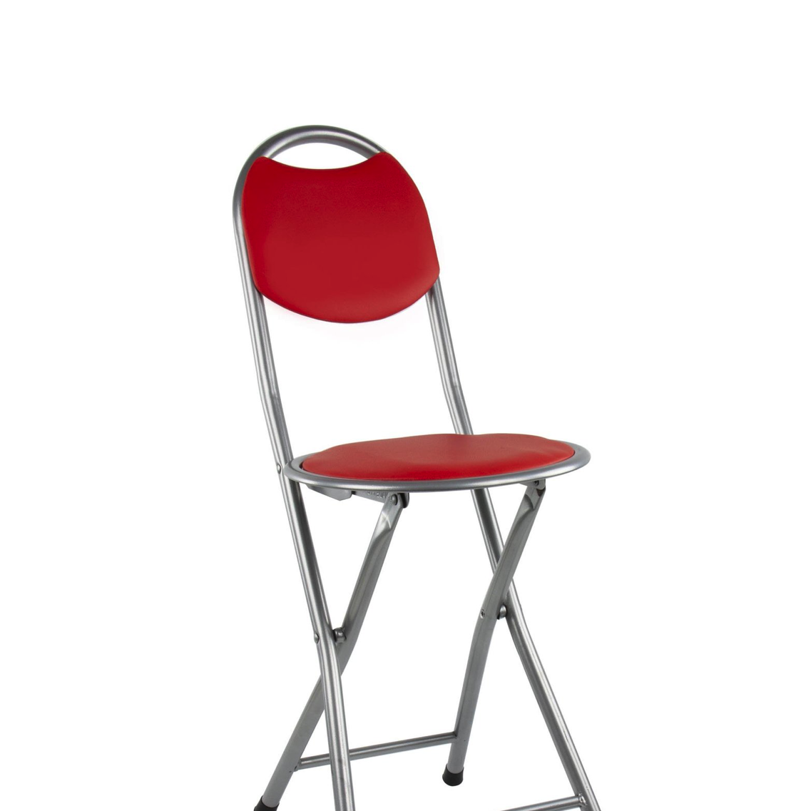 Foldable Round Dining Chair Indoor Outdoor Seating Diner Chair RED 9395