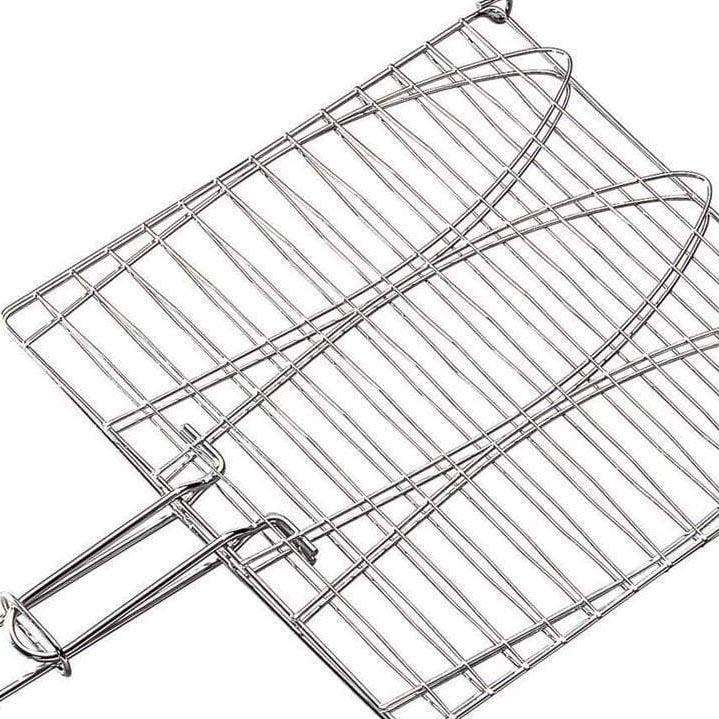 Barbecue Grill Basket BBQ Net Steak Meat Fish Vegetable Kebabs Grill 20cm 4532