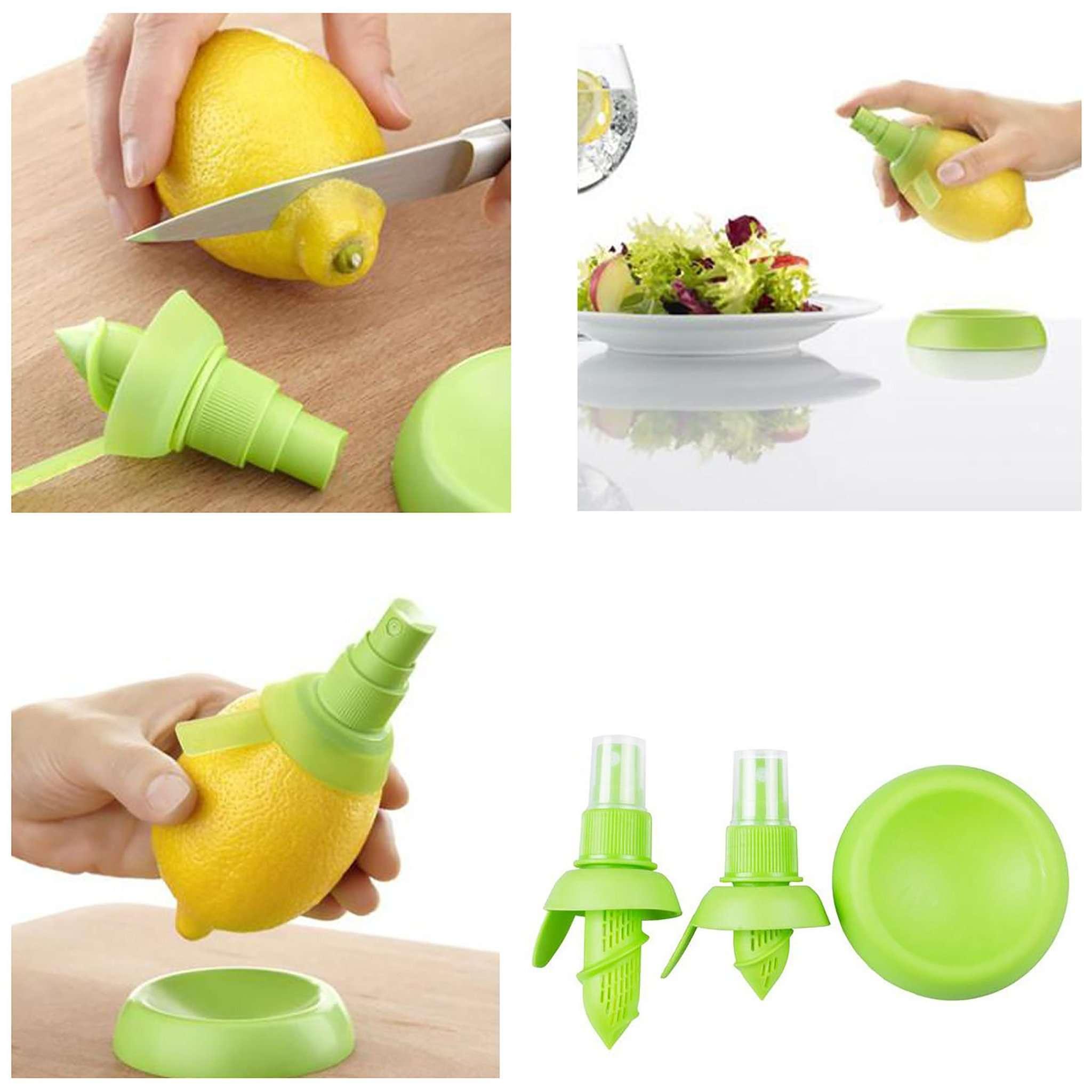 New Quirky Citrus Silicone Plastic Nozzle Spray Stem Juice Sprayer Yellow/Green