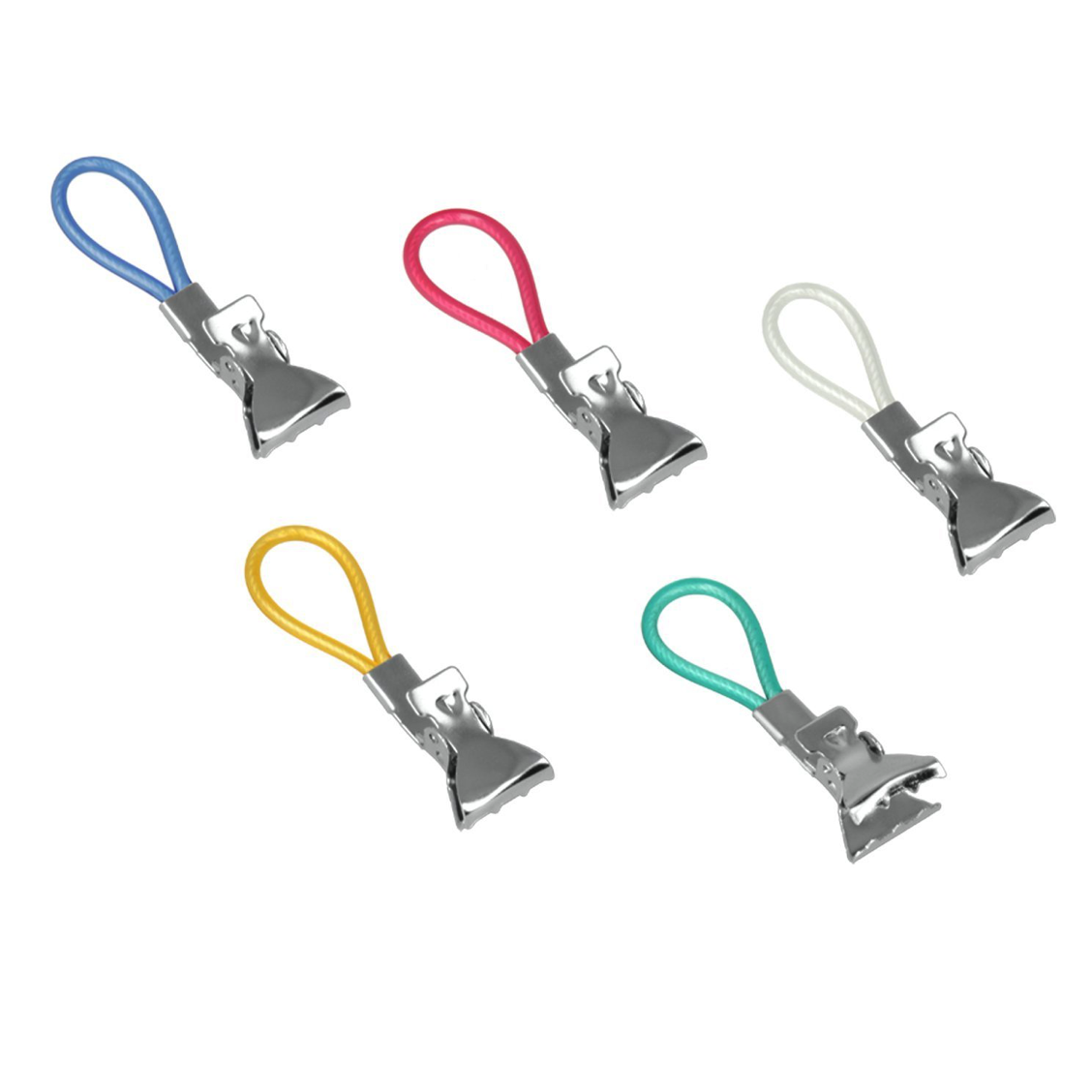 5 Piece Clips Towel Cloth Hanging Clips Metal Assorted Colour 2cm Clip 2821